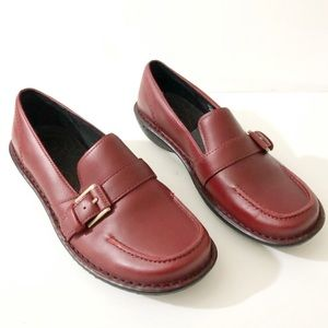 NEW Red Wing Shoes Leather Flats Slip on Red 6.5